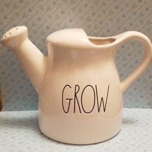"""Brand new  Rae Dunn  """"GROW"""" watering can"""